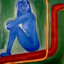 The Blue Puppy 2006 Oil, canvas 120x96cm