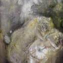 Begalska & Vilkin GYENA 2016 Canvas, oil, oil pastel, pencil, charcoal 141Х91 cm