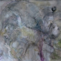Begalska & Vilkin Pompeis 2016 Canvas, oil, oil pastel, pencil, charcoa l91х140 cm