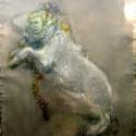 Begalska & Vilkin Sphinx 2016 Canvas, oil, oil pastel, pencil, charcoal 191х140 cm