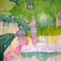 Begalska & Vilkin Ferry 2015 canvas, oil, pencil, charcoal 160x220 cm