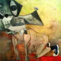 Begalska & Vilkin Turner's Dog 2015 canvas, oil 120х150 cm