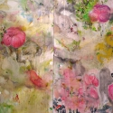 Begalska & Vilkin Icarus 2015 canvas, oil, oil pastel, pencil, diptych: 150х80,150x80 cm (fragment)